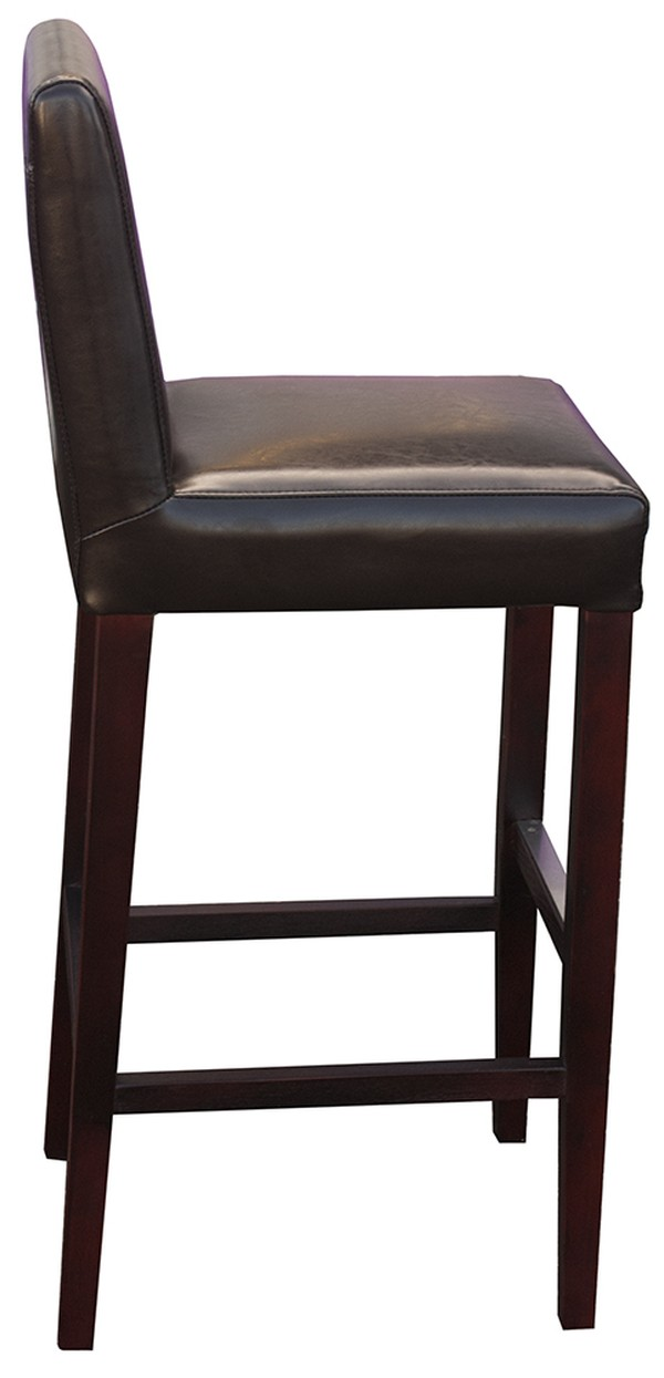 New Brown Covent Bar Stool With Back