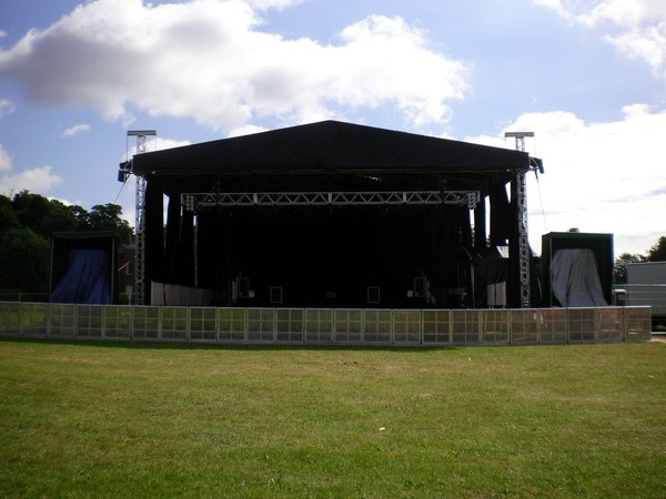 15m x 12m james thomas super truss roof stage lighting