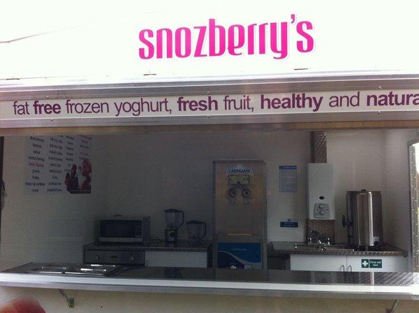 Frozen Yoghurt Ice Cream Hot Dessert Trailer