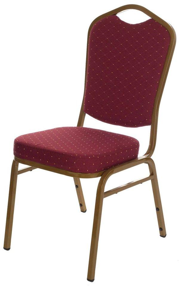 Burgundy fleck banqueting chair