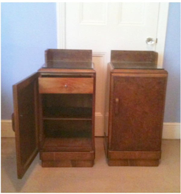 Two bedside lockers