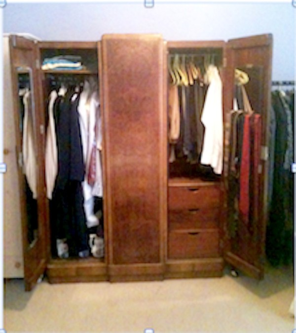 Wardrobe hanging space
