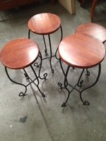 Assorted Hardwood Stools