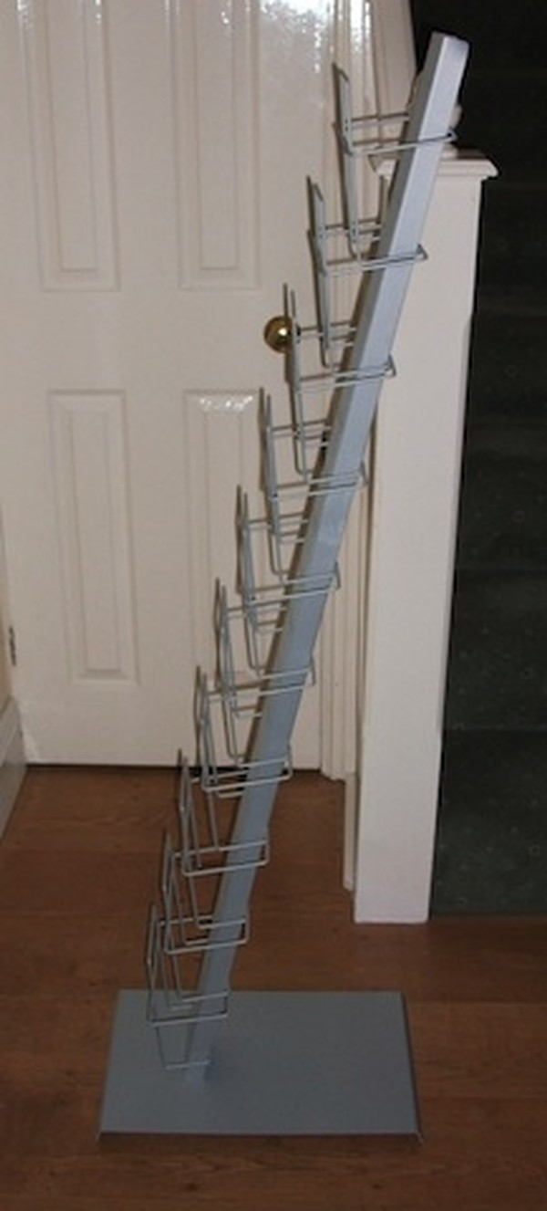 Buy Used Light Grey Steel Literature Rack