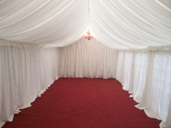 gala tent with lining