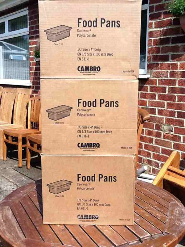 Cambrq food pans 1/3 Gastronorm