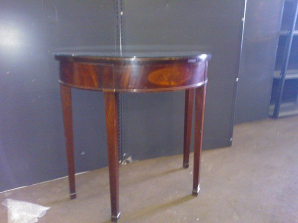 2x Half Moon Tables