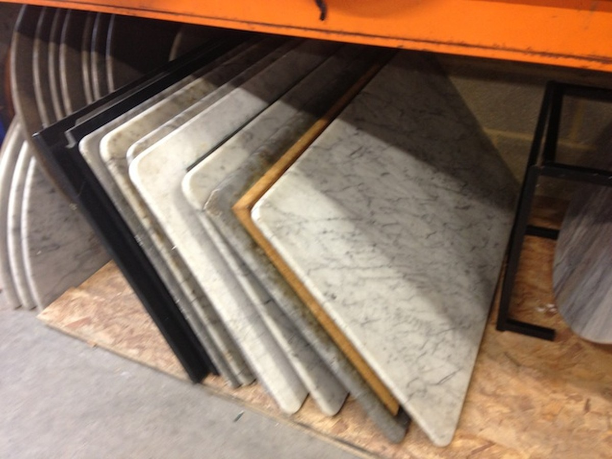 Secondhand catering equipment roneford catering london for Marble table tops for sale