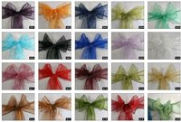 chair bows in all colours