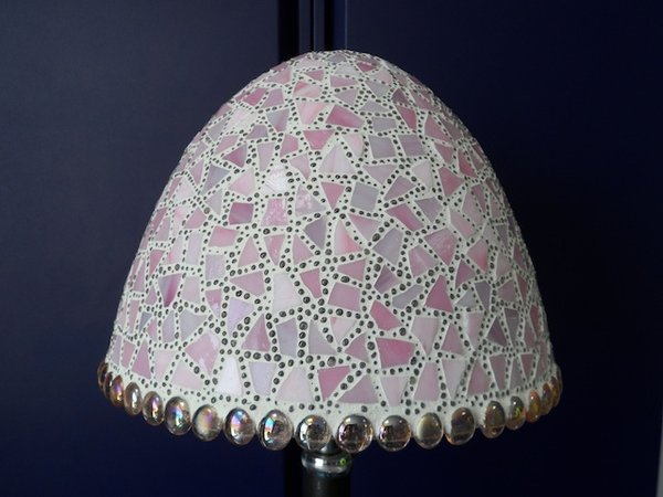 Mosaic Glass and Bead Pendant Shades