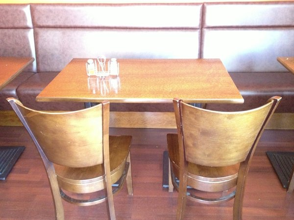 Solid oak restaurant table