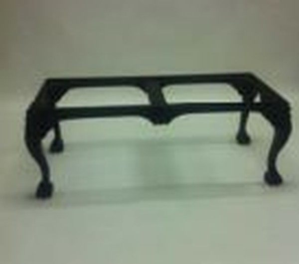 black gloss chippendale frame