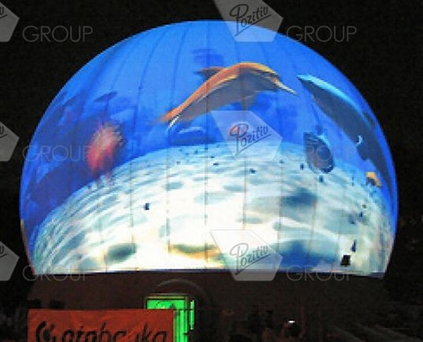 Advertising inflatable sphere