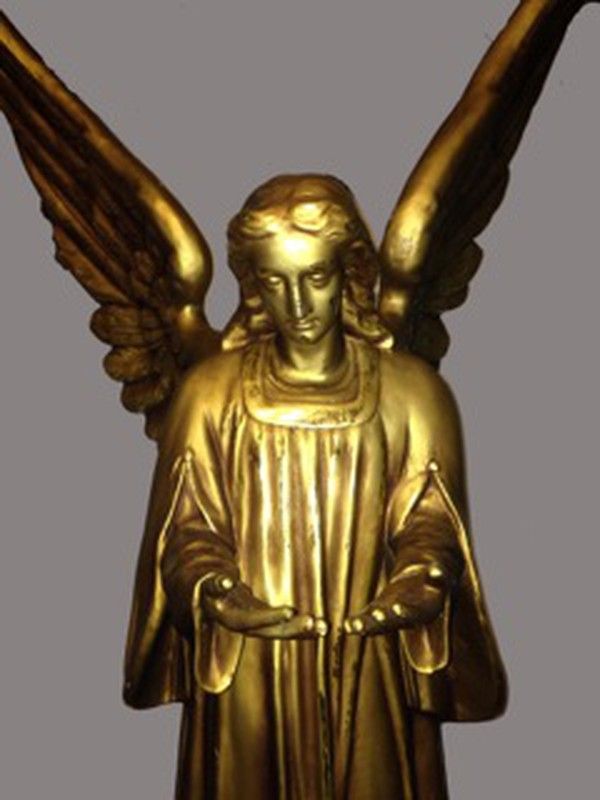 Resin gold angel statue