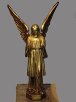 Gold resin statue