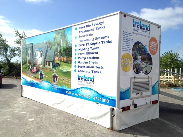 Ireland waste water exhibition trailer
