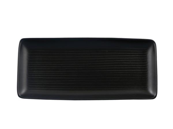 Long black plate