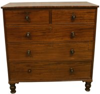 Victorian Mahogany 2 Over 3 Chest of Drawers