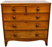Victorian Mahogany Chest of Drawers 2 over 3