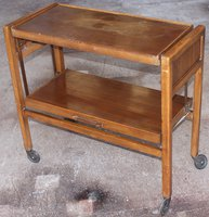 antique serving trolley