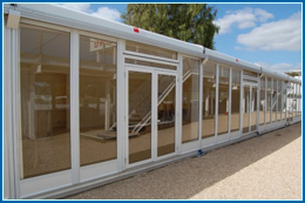 marquee glass panels