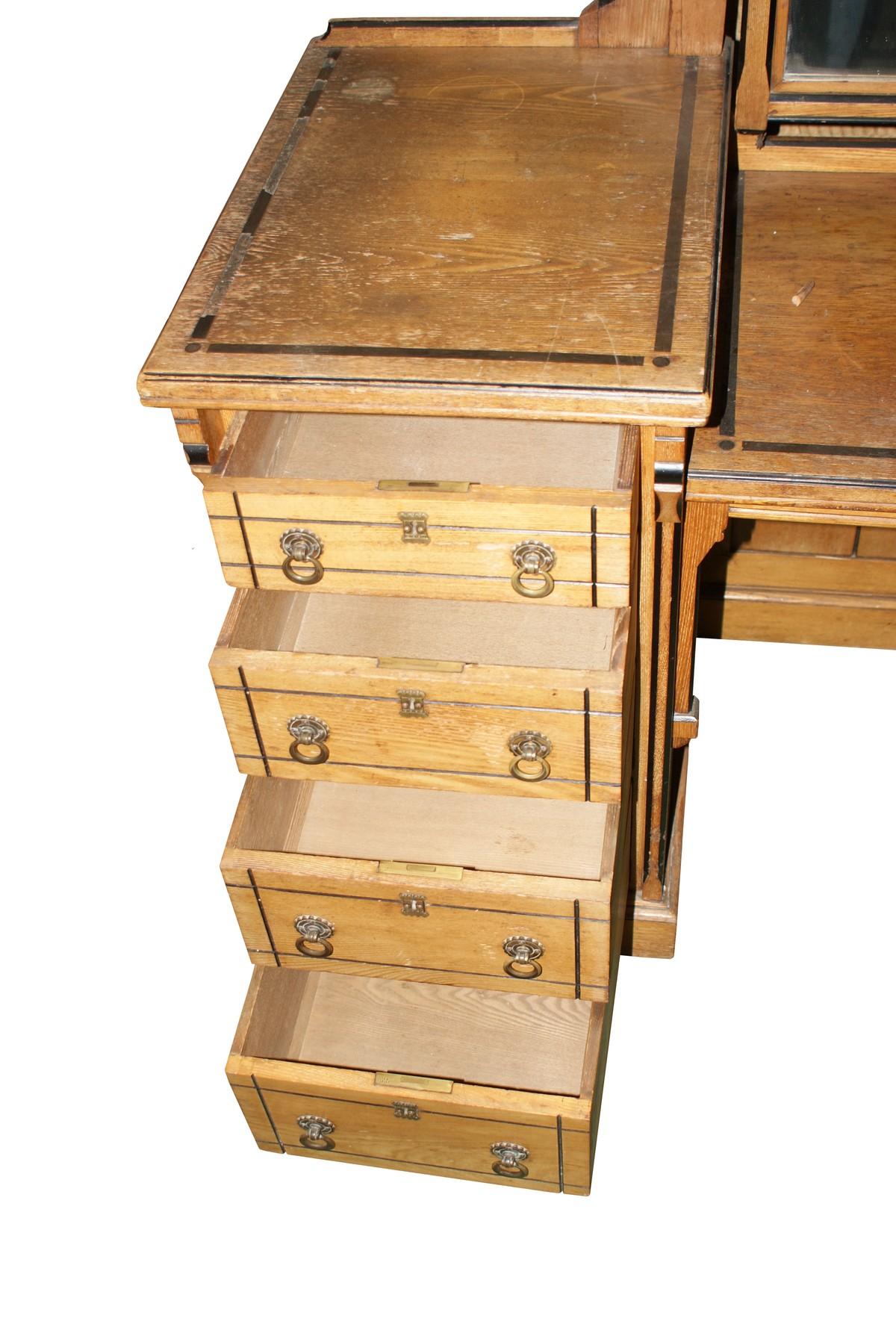 Bedroom Furniture Warrington Antiques Bazaar Dressing Tables Large 3 Door Mirror Fronted