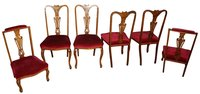 6 Edwardian Walnut Chairs