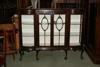 antique edwardian display cabinet