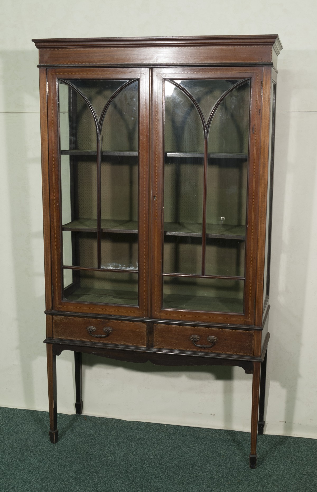Antiques Bazaar Display Cabinets Mahogany Victorian