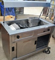 Lincat mobile hot cupboard with bain marie top