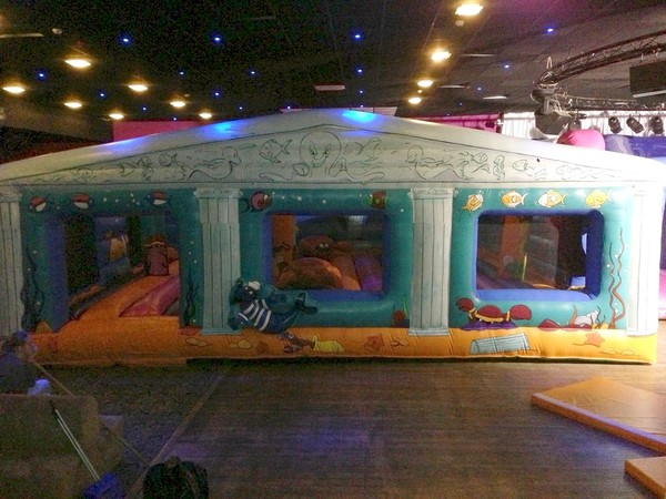 Sea themed obstacle course