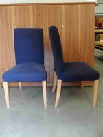 Blue dining chairs for sale