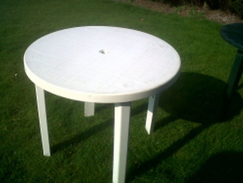 White plastic table and chairs white plastic patio table for White patio table
