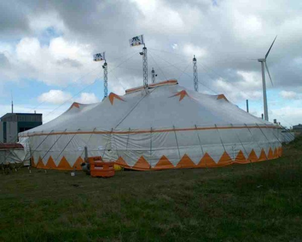 Second hand 38m Miotti big top