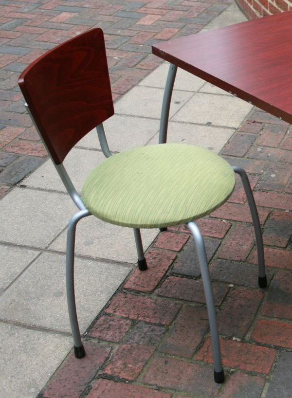 Padded Chairs with Wooden Backs