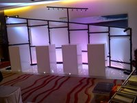 Professional expo stand with lights