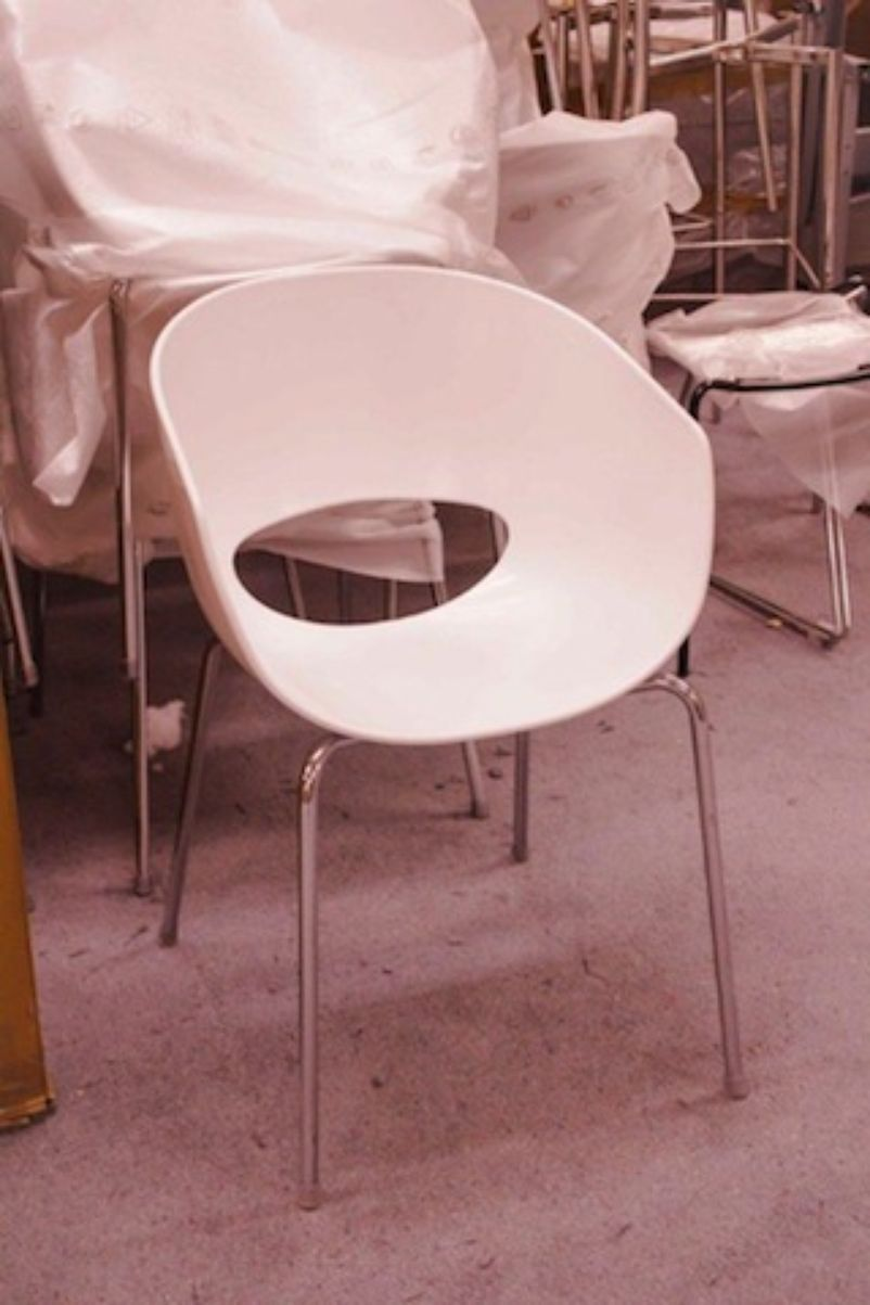 Secondhand chairs and tables cafe or bistro