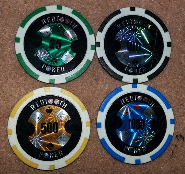 2 Second Hand Sets of Poker Chips in Cases