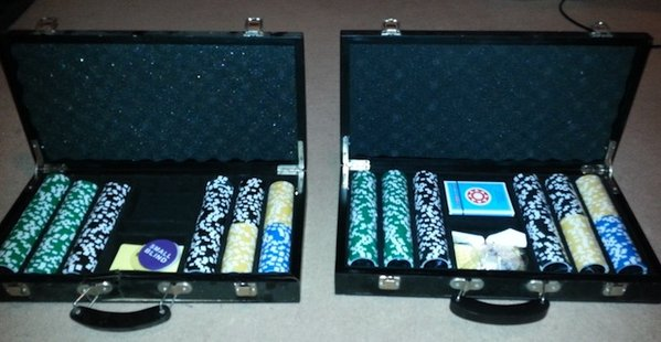 2 Sets of Poker Chips in Cases