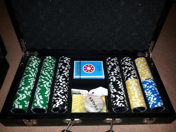 2 Sets of Professional Poker Table Tops with 2 Sets of Chips in Cases