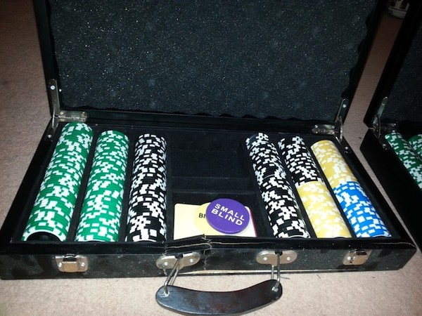 Two Sets of Professional Poker Chips in Cases