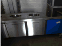stainless steel commercial kitchen clearing station
