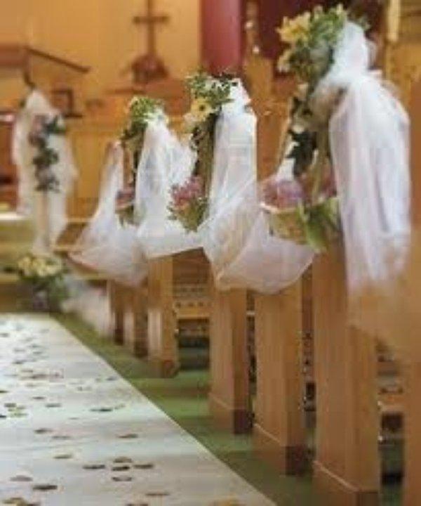 Decorated wedding seating