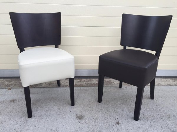 Restaurant Chairs Upholstered in Sekers Faux Leather