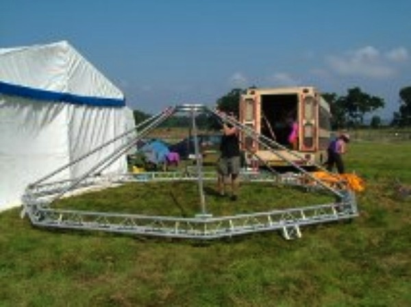Trilite Lighting Rig Structure Stall TRI LITE