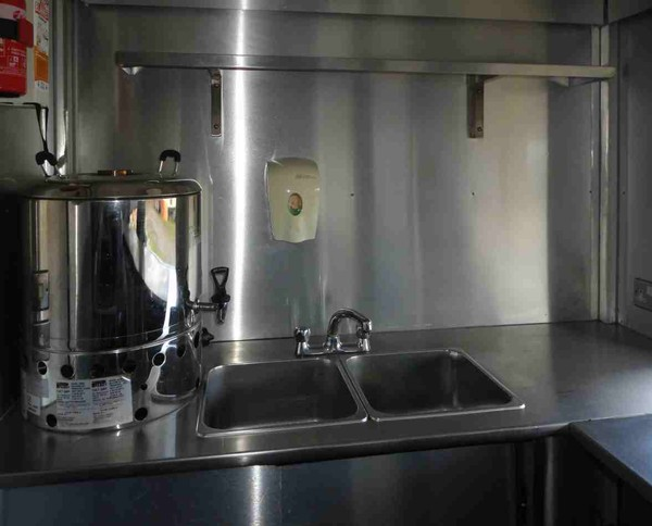 Stainless steel catering trailer