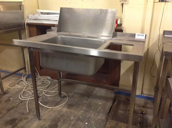 Stainless Steel Dishwasher Inlet Sink with Scrap Hole