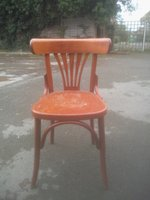 Pub style wooden chair