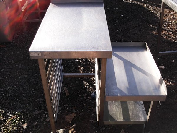 Stainless Steel 2 Tier Table (1786)