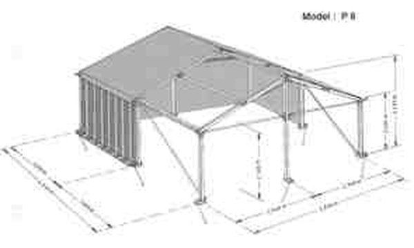 Hoecker 6m x 6m Marquee for sale